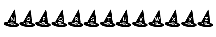 KR Witch's Hat Font UPPERCASE