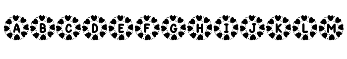 KR Wreath Of Hearts Font LOWERCASE