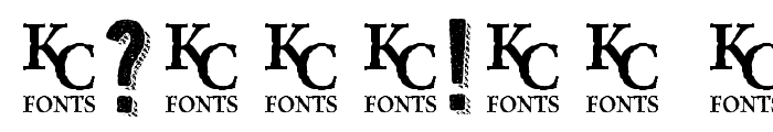 Kraft Nine Font OTHER CHARS