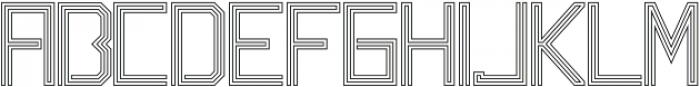 Labyrinth Outline ttf (400) Font UPPERCASE