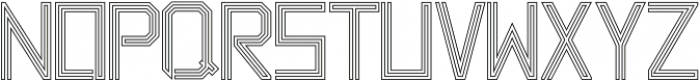 Labyrinth Outline ttf (400) Font LOWERCASE