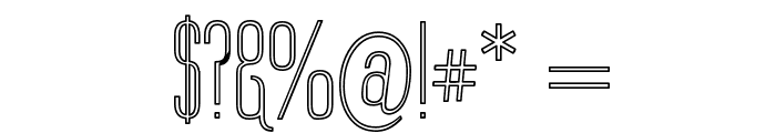 Labtop Outline Font OTHER CHARS