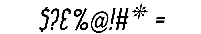 Lady Ice Italic Font OTHER CHARS