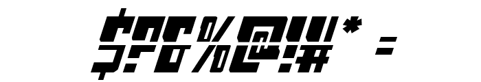 Lamprey Laser Italic Font OTHER CHARS