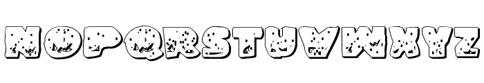 Land Shark Outline Grunge Font UPPERCASE