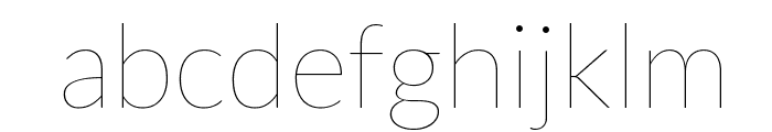Lato-Hairline Font LOWERCASE