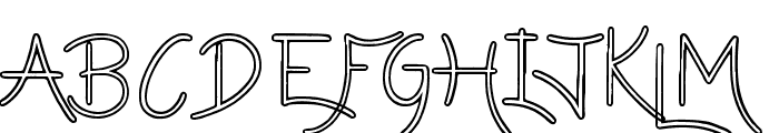 Lazy Girls hollow Font LOWERCASE