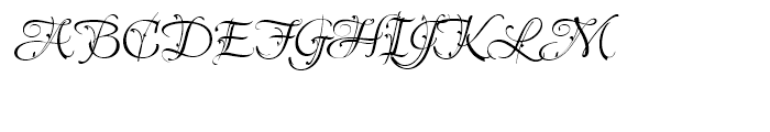 Lavishly Yours Regular Font UPPERCASE