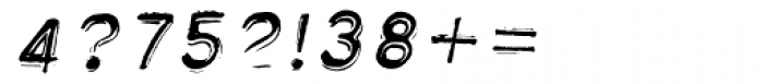 Label Gun Numbers Oblique Font OTHER CHARS
