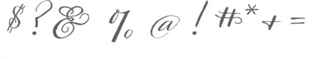 ld hand-written greetings Font OTHER CHARS