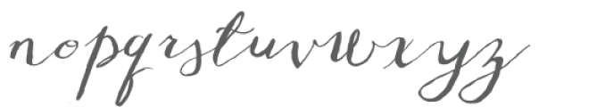 ld hand-written greetings Font LOWERCASE