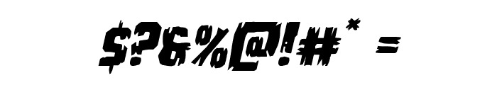 Leatherface Expanded Italic Font OTHER CHARS