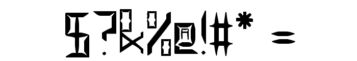 Legitimate Crystal Display Font OTHER CHARS