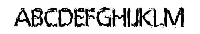 LeprocyFace Font UPPERCASE