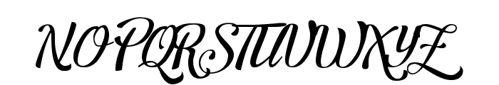 Letra Hipster - Personal Use Font UPPERCASE
