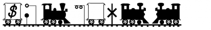 LetterTrain Italic Font OTHER CHARS