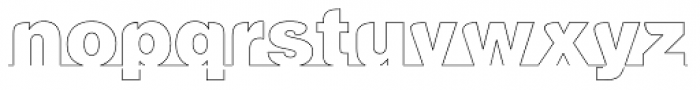LGF Cup Thin Font LOWERCASE