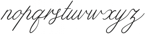 Limerence Regular otf (400) Font LOWERCASE