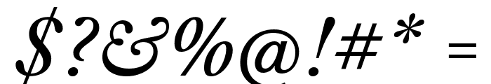 Libre Caslon Text Italic Font OTHER CHARS