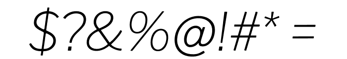 Libre Franklin Thin Italic Font OTHER CHARS