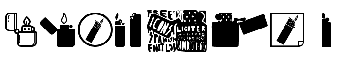 Lighter Icons Font OTHER CHARS