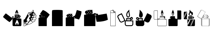 Lighter Icons Font LOWERCASE