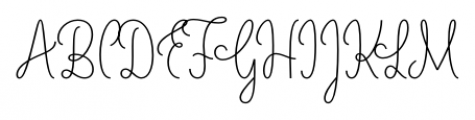 LiebeLotte Regular Font UPPERCASE