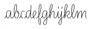 LiebeLotte Regular Font LOWERCASE