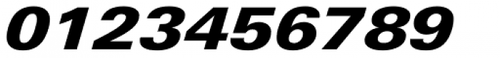Linotype Univers 841 Extended Black Italic Font OTHER CHARS