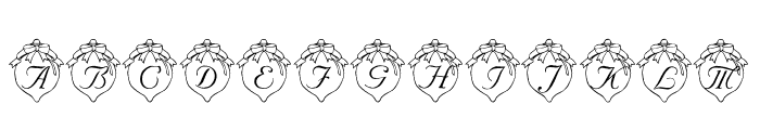 LMS How Lovely Are Thy Branches Font UPPERCASE