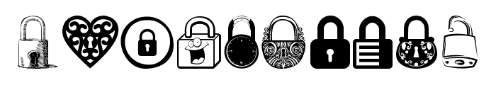 Lock Font OTHER CHARS