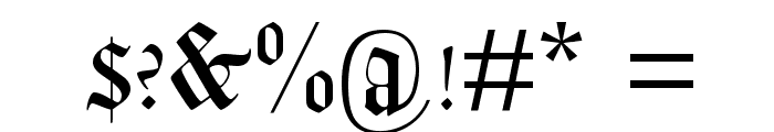 Lohengrin Font OTHER CHARS