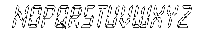 Loopy Italic Font UPPERCASE