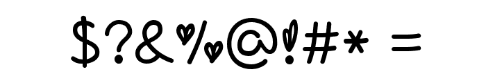 love of love by OUBYC Font OTHER CHARS