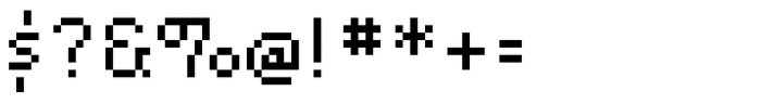 Lo-Res 12 Regular Font OTHER CHARS