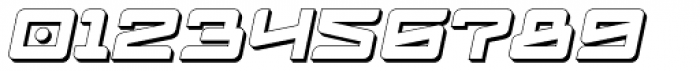 Logofontik Extruded 4F Italic Font OTHER CHARS