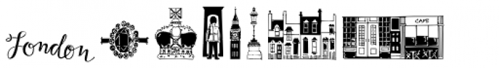 London Doodles Font UPPERCASE
