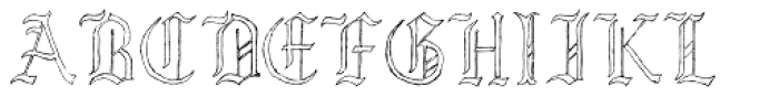 Lore Nokturnia Hollow Font UPPERCASE