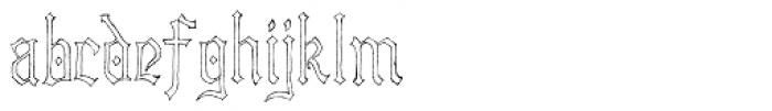Lore Nokturnia Hollow Font LOWERCASE