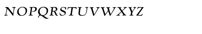 LTC Goudy Oldstyle Italic Small Caps Font LOWERCASE