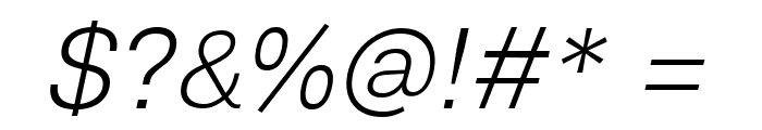 Lunchtype23 Light Italic Font OTHER CHARS