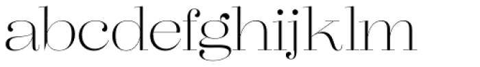 Lust Pro Didone No1 Font LOWERCASE