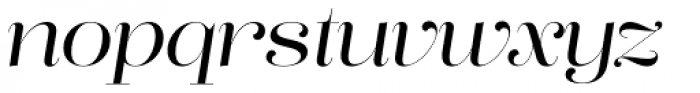 Lust Pro Didone No3 Italic Font LOWERCASE