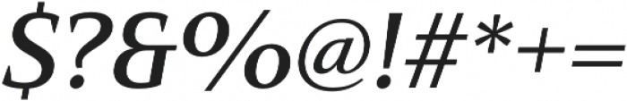 Mandrel Ext Demi Italic otf (400) Font OTHER CHARS