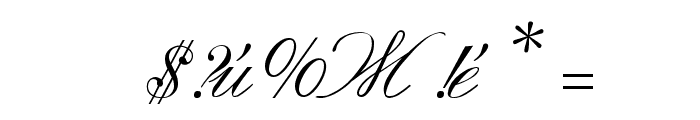 Macedonian Handwriting Font OTHER CHARS
