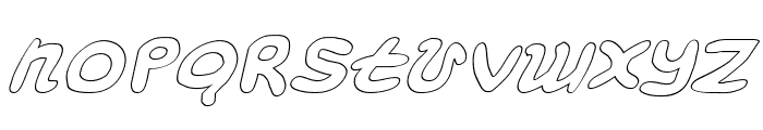 Magic Beans Outline Italic Font UPPERCASE