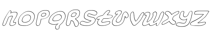 Magic Beans Outline Italic Font LOWERCASE