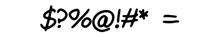 Maly_s_Best_Handwriting Font OTHER CHARS
