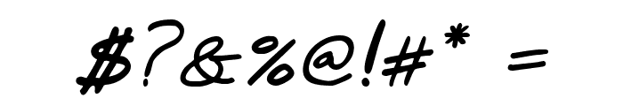 Marker SD Italic Font OTHER CHARS