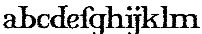 Mary Jane Windlin Font LOWERCASE
